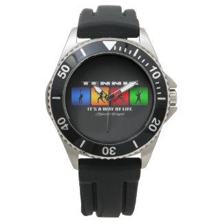 Tenis fresco es una manera de vida (el varón) reloj de pulsera