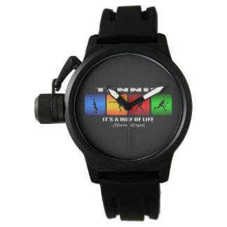 Tenis fresco es una manera de vida (femenina) reloj de pulsera