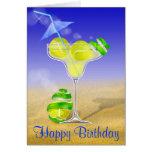 Tenis Margarita, feliz cumpleaños Tarjeta
