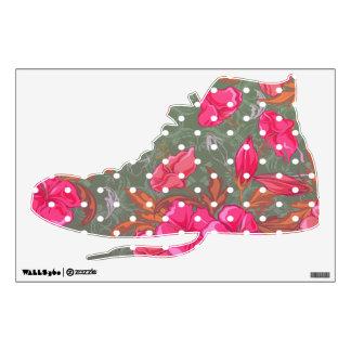 Tenis ShoeFloral del Hola-Top con la etiqueta de l
