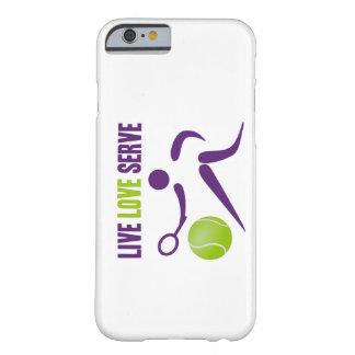 Tenis: Vivo. Amor. Servicio Funda De iPhone 6 Barely There