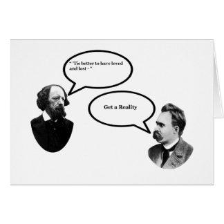Tennyson Nietzsche consigue a realidad el MUSEO Za Tarjeta De Felicitación