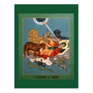 Tentación de la tarjeta del rezo de St Anthony