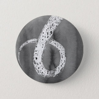Tentáculo blanco y negro chapa redonda de 5 cm