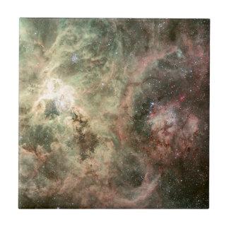 Tentáculos de la nebulosa del Tarantula Azulejo Cuadrado Pequeño
