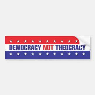 Teocracia de la democracia no pegatina para coche