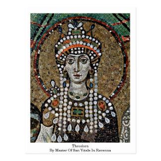 Teodora por el amo de San Vitale en Ravena Postal