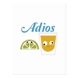 tequila_Adios Tarjeta Postal