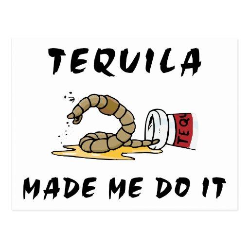 Tequila mexicano divertido postales