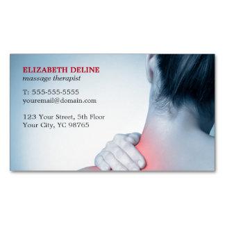 Terapeuta azul elegante moderno del masaje de la tarjetas de visita magnéticas (paquete de 25)