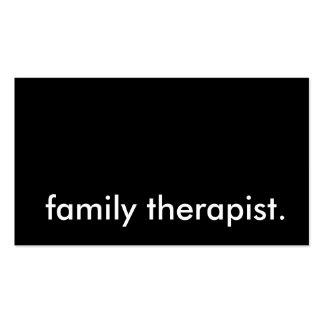 terapeuta de la familia tarjetas de visita