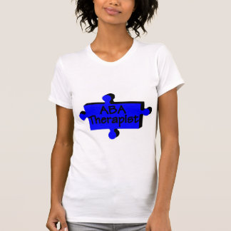 Terapeuta del ABA azul P Camisetas