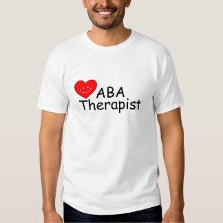Terapeuta del ABA (corazón) Camisetas