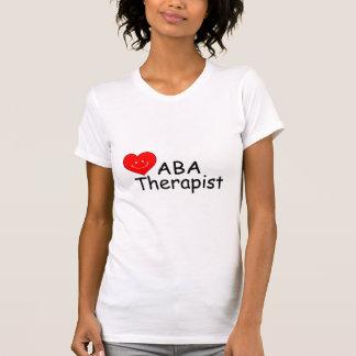 Terapeuta del ABA Hrt Camiseta