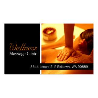 Terapeuta del masaje, clínica, tarjeta de visita