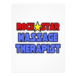 Terapeuta del masaje de la estrella del rock flyer personalizado