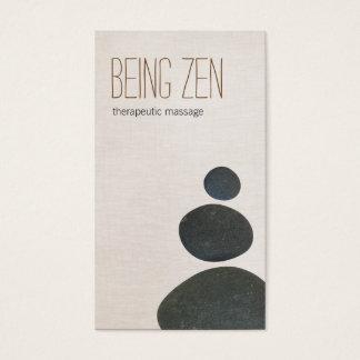Terapeuta del masaje de los ZENES Stone y profesor Tarjeta De Negocios