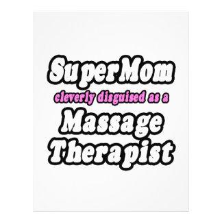 Terapeuta del masaje del SuperMom… Tarjetas Publicitarias