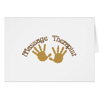 Terapeuta del masaje tarjeta de felicitación