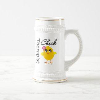 Terapeuta del polluelo de los empleos taza de café