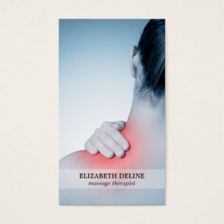 Terapeuta elegante moderno del masaje de la foto tarjeta de negocios