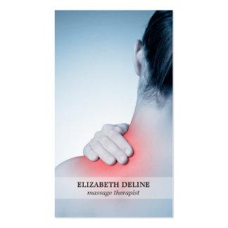 Terapeuta elegante moderno del masaje de la foto tarjetas de visita