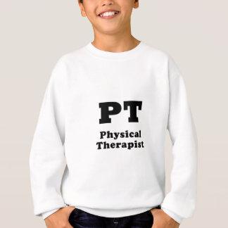 Terapeuta físico de la pinta sudadera