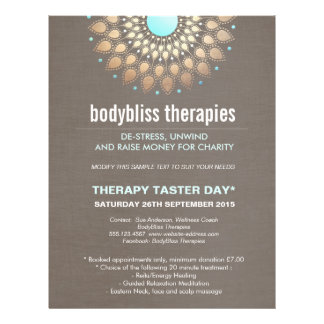 Terapeuta holístico de la salud de la yoga de folleto 21,6 x 28 cm