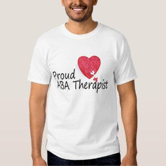 Terapeuta orgulloso del ABA Camisetas