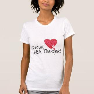 Terapeutas orgullosos del ABA corazón Camisetas