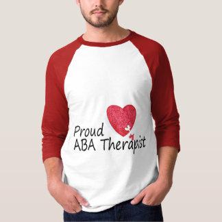 Terapeutas orgullosos del ABA (corazón) Camisetas