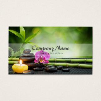 Terapia de bambú del masaje del balneario de la tarjeta de negocios