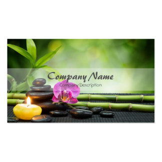 Terapia de bambú del masaje del balneario de la tarjetas de visita