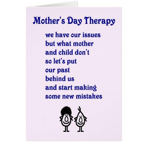 Terapia del día de madre - un poema divertido del  tarjetas