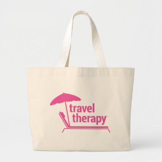 Terapia del viaje bolsa tela grande