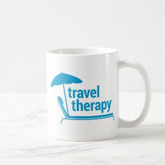 Terapia del viaje taza