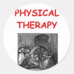 terapia física etiquetas redondas