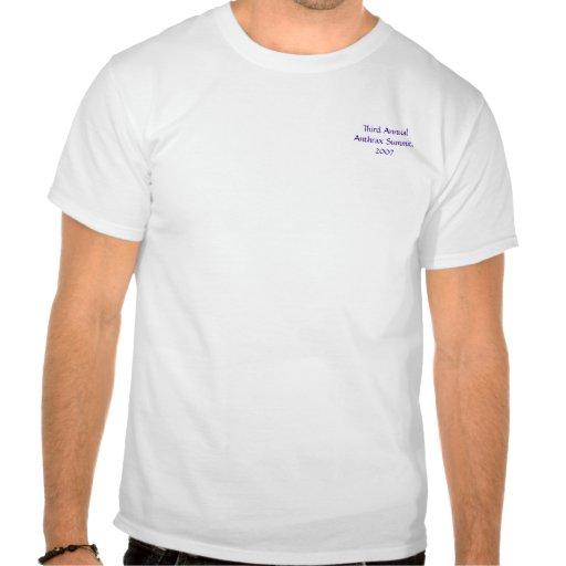 Tercera cumbre anual del ántrax, 2007 camiseta