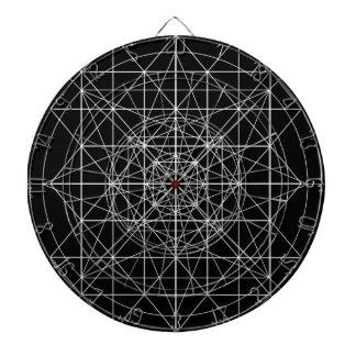 Tercera geometría sagrada del templo tablero dardos