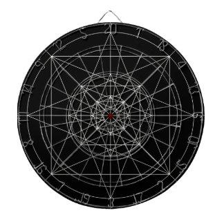 Tercera geometría sagrada dimensional tablero dardos