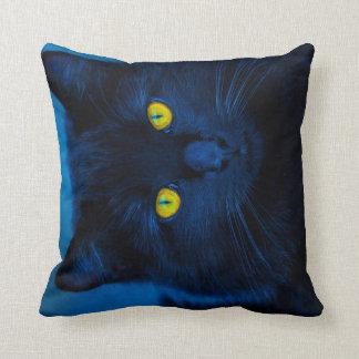 Terciopelo azul cojín decorativo
