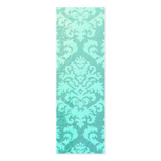 Terciopelo del corte del damasco, satén grabado en plantilla de tarjeta de negocio