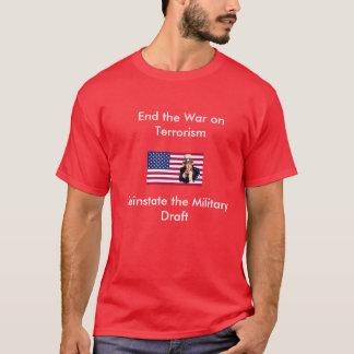 Termine la guerra contra el terrorismo camiseta