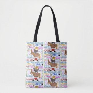 Términos del veterinario del arte del bolso de tela