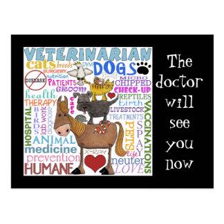 Términos del veterinario del arte del Veterinario- Postal