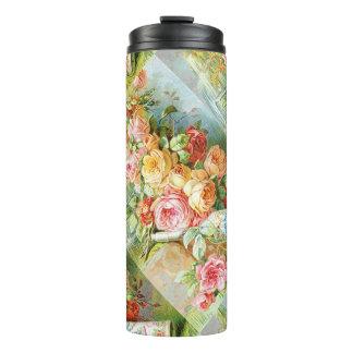 Termo Agua Colonia de la Florida con los rosas de la col