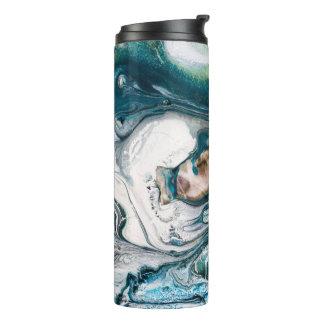 Termo Arte veteado del océano de Abstact del trullo