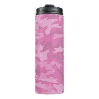 Termo Camuflaje/vaso rosados la termal de Camo