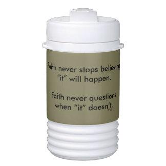 Termo De la fe cruz del vaso refrigerador w/Steel nunca