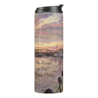 Termo El río es mi lugar feliz, arte del río Misisipi
